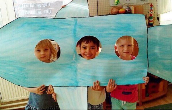 Воспитанники детского сада приняли участие в программе ко Дню космонавтики. Фото: официальная страница образовательного комплекса «Школа №2070» в социальных сетях