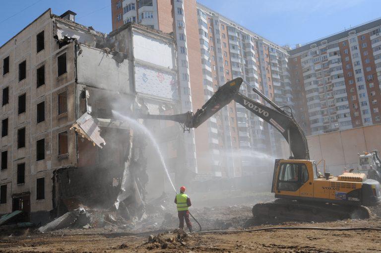 Снос домов и пятиэтажек в Москве