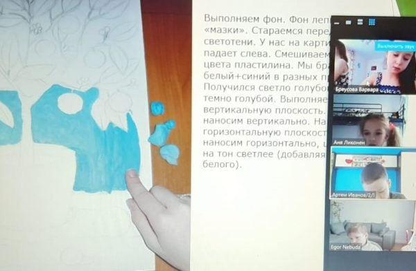 Дети из школы №338 стали участниками мастер-класса по пластилинографии. Фото: официальный сайт школы №338